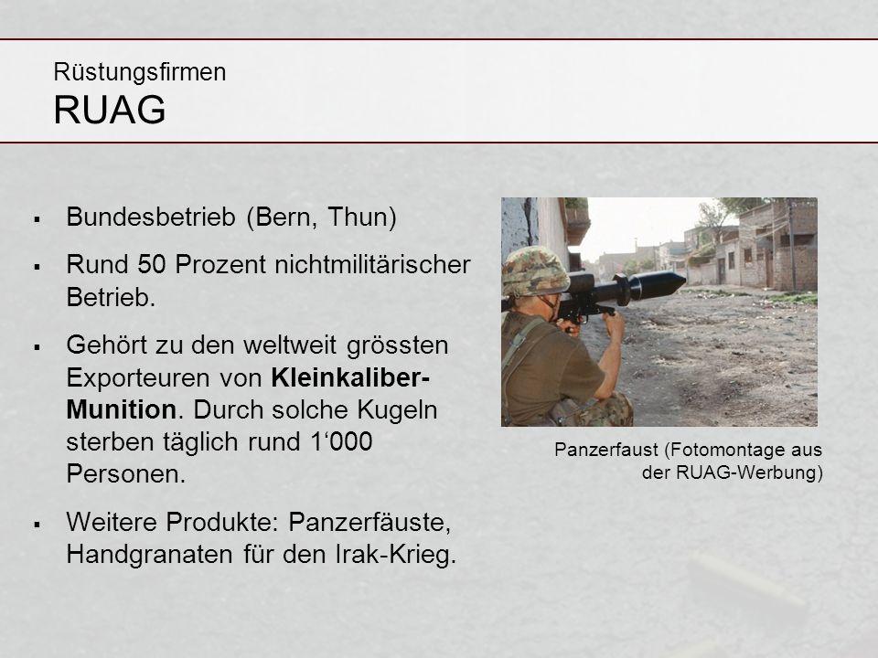 Bundesbetrieb (Bern, Thun) Rund 50 Prozent nichtmilitärischer Betrieb.