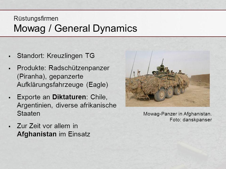 Rüstungsfirmen Mowag / General Dynamics