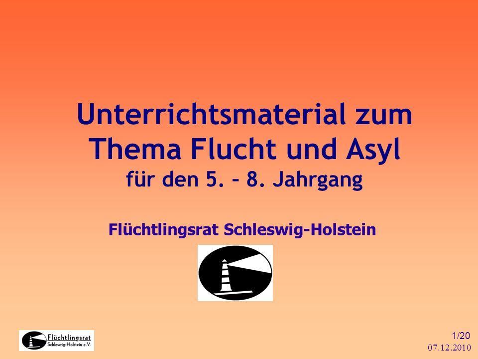 Unterrichtsmaterial zum Thema Flucht und Asyl für den 5. – 8. Jahrgang