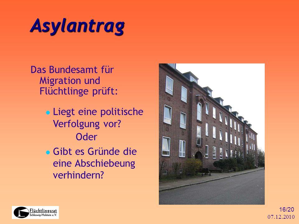 Asylantrag Das Bundesamt für Migration und Flüchtlinge prüft: