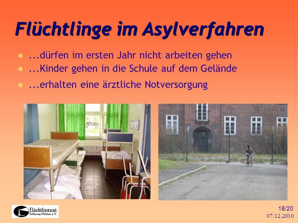 Flüchtlinge im Asylverfahren