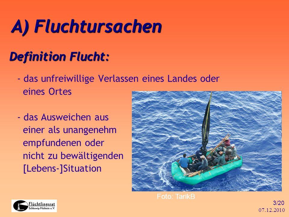 A) Fluchtursachen Definition Flucht: