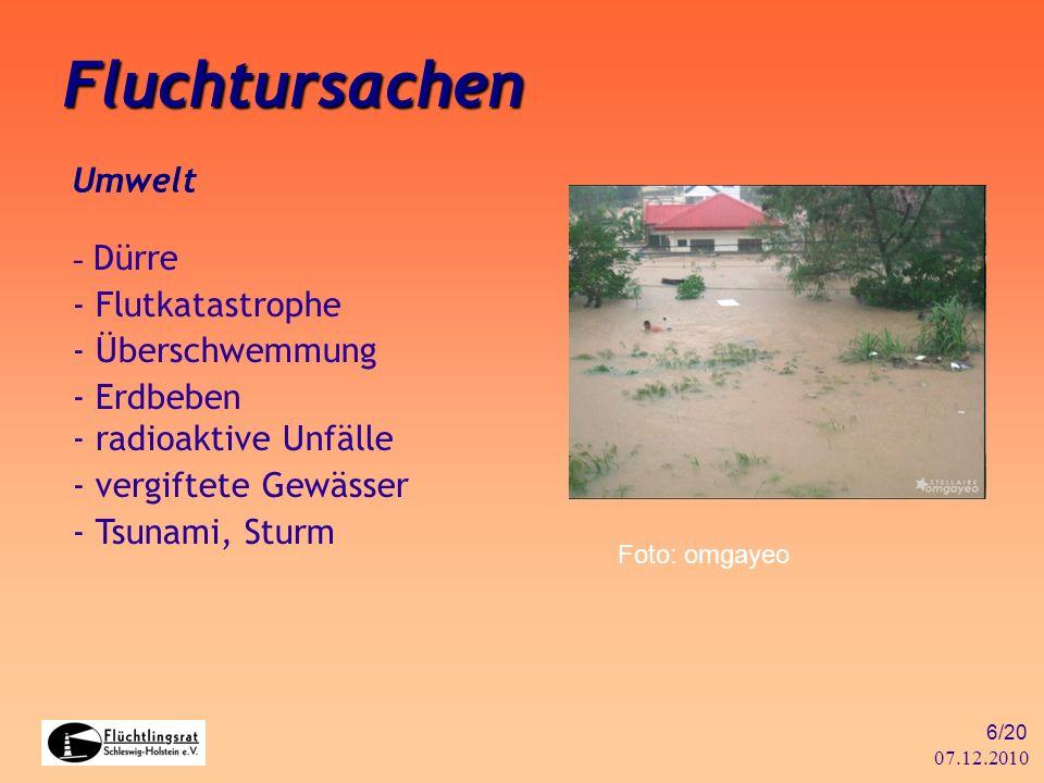 Fluchtursachen Umwelt - Dürre - Flutkatastrophe - Überschwemmung