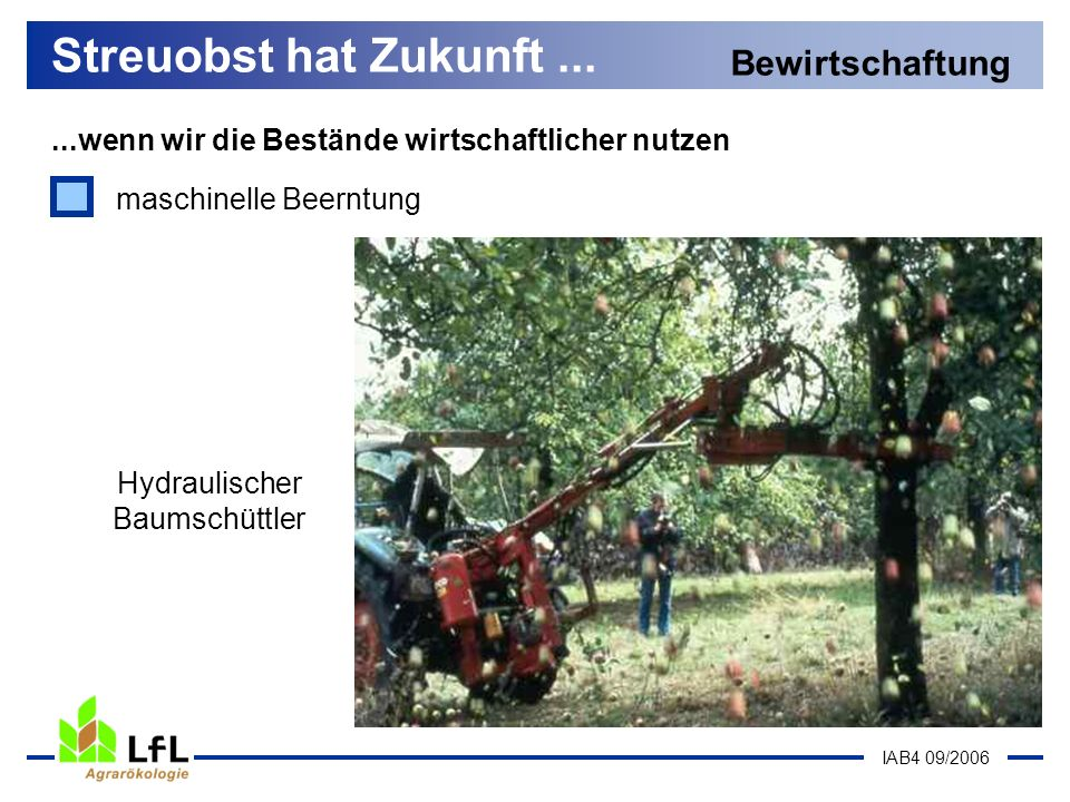 Hydraulischer Baumschüttler