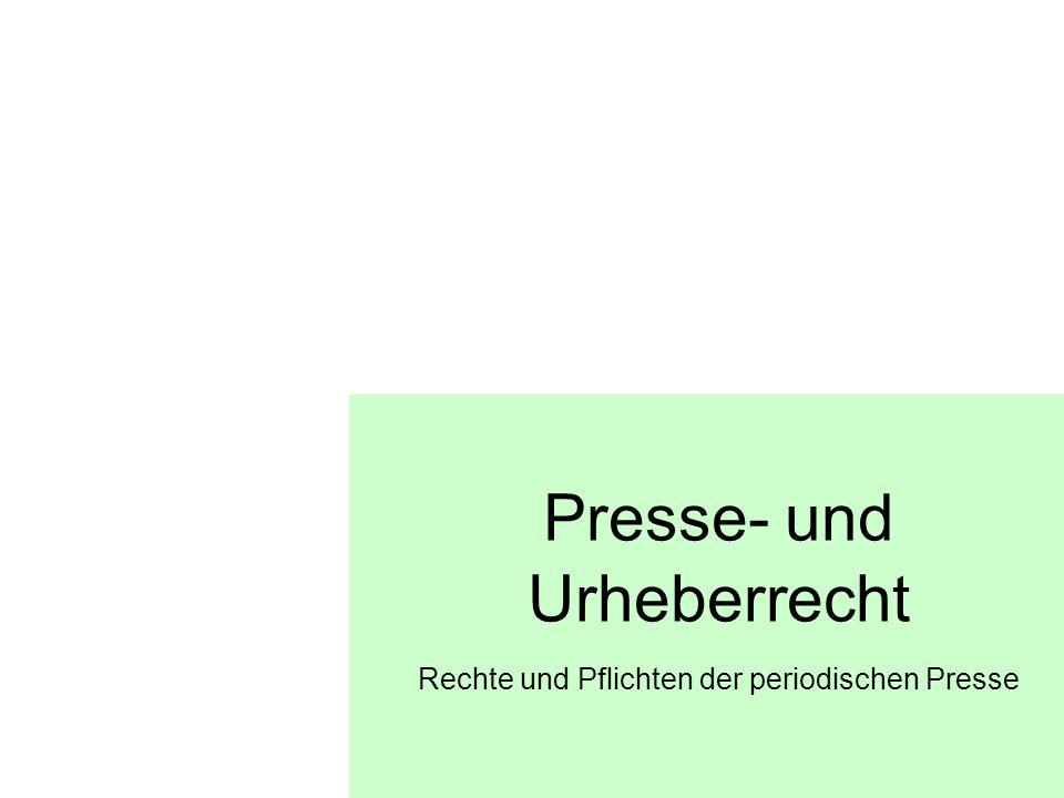 Presse- und Urheberrecht