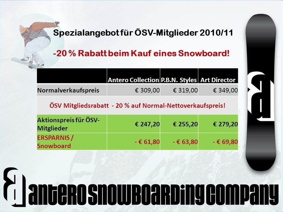 ÖSV Mitgliedsrabatt - 20 % auf Normal-Nettoverkaufspreis!