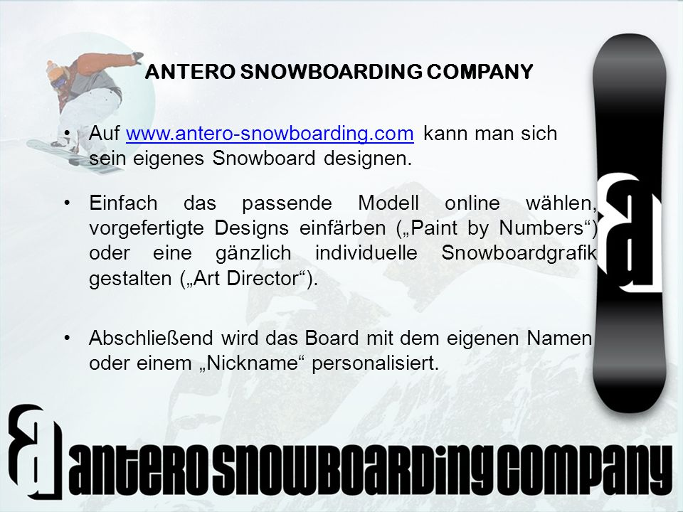 ANTERO SNOWBOARDING COMPANY