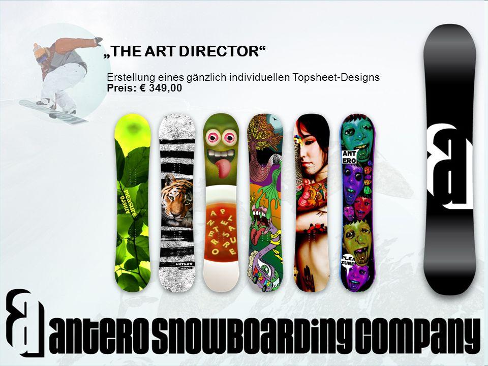 """""""THE ART DIRECTOR Erstellung eines gänzlich individuellen Topsheet-Designs Preis: € 349,00"""