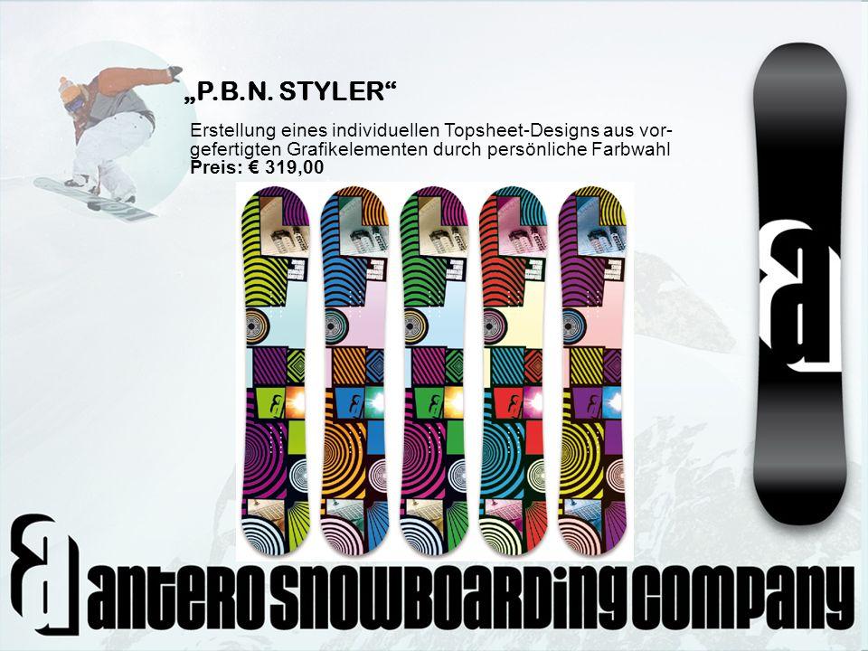 """""""P.B.N. STYLER Erstellung eines individuellen Topsheet-Designs aus vor- gefertigten Grafikelementen durch persönliche Farbwahl."""