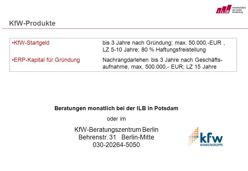 Beratungen monatlich bei der ILB in Potsdam