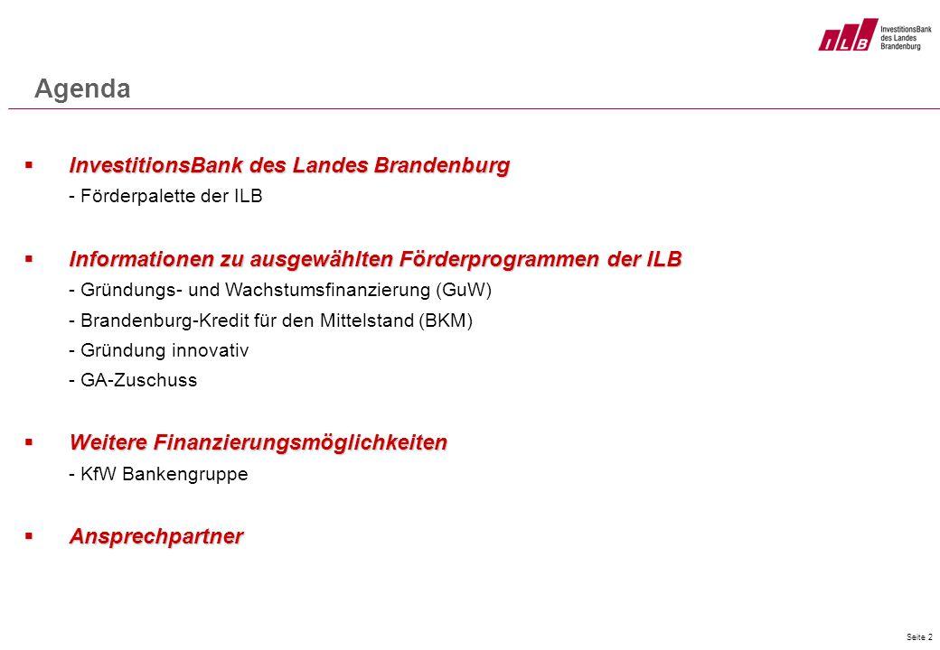 Agenda InvestitionsBank des Landes Brandenburg