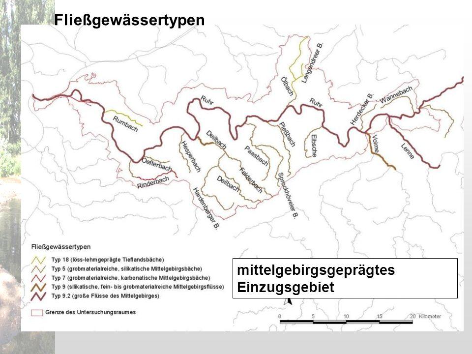 Fließgewässertypen mittelgebirgsgeprägtes Einzugsgebiet