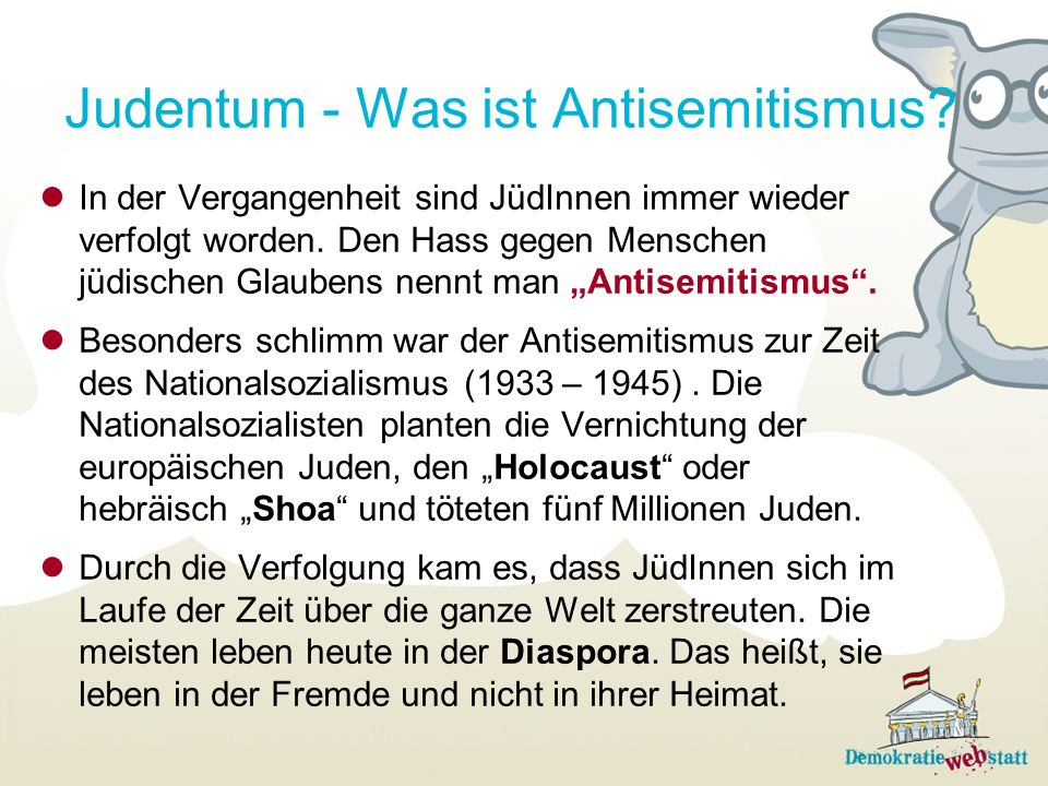 Judentum - Was ist Antisemitismus
