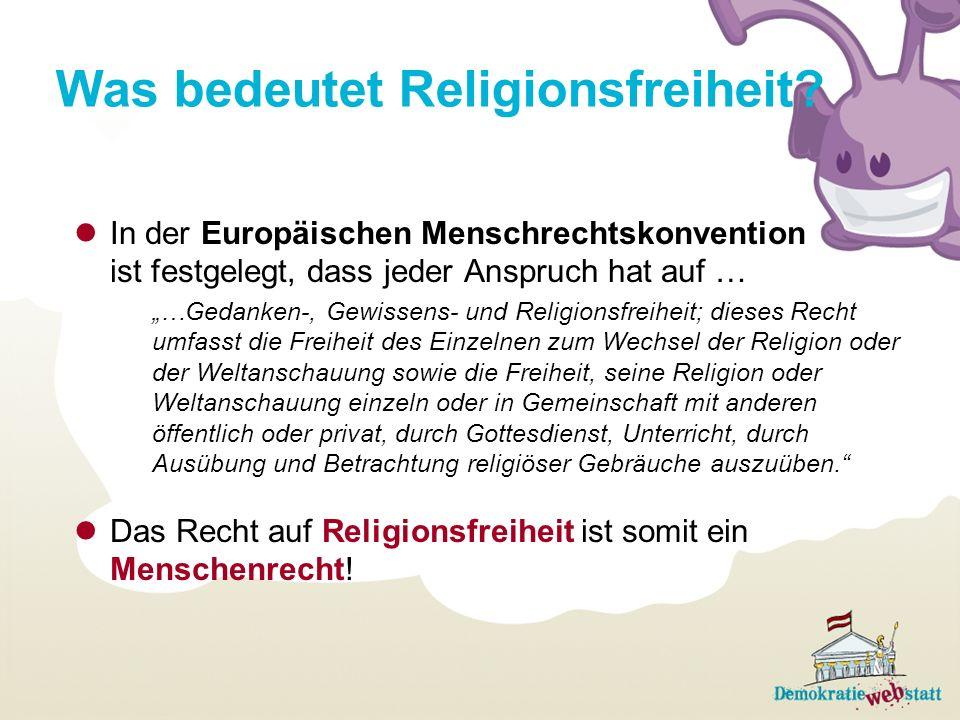 Was bedeutet Religionsfreiheit