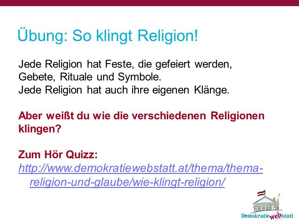 Übung: So klingt Religion!