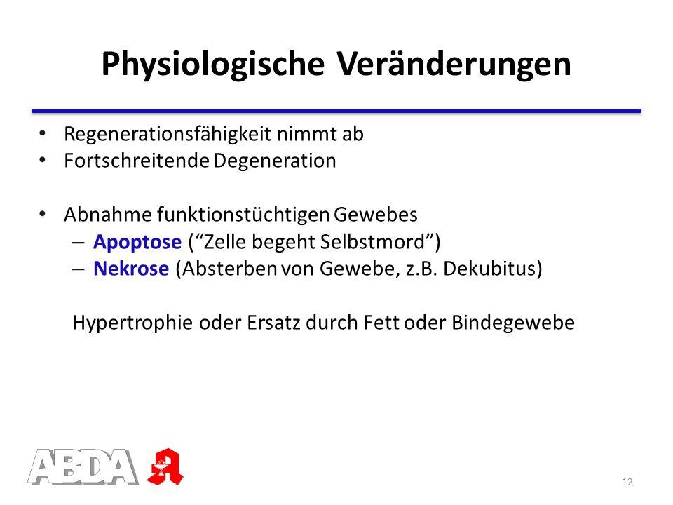 Physiologische Veränderungen
