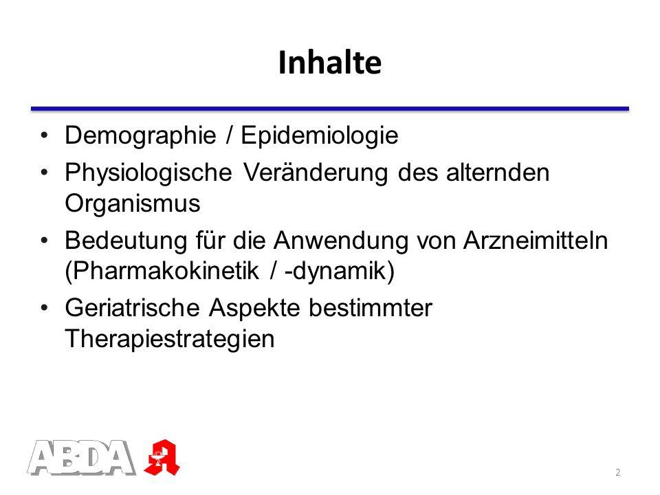 Inhalte Demographie / Epidemiologie