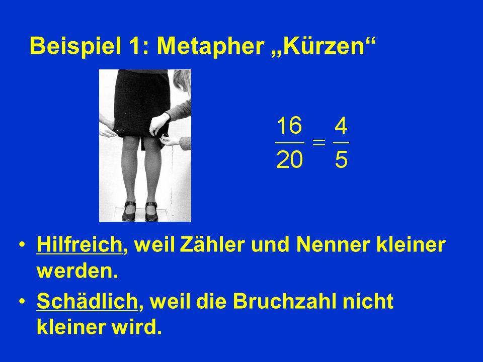 """Beispiel 1: Metapher """"Kürzen"""