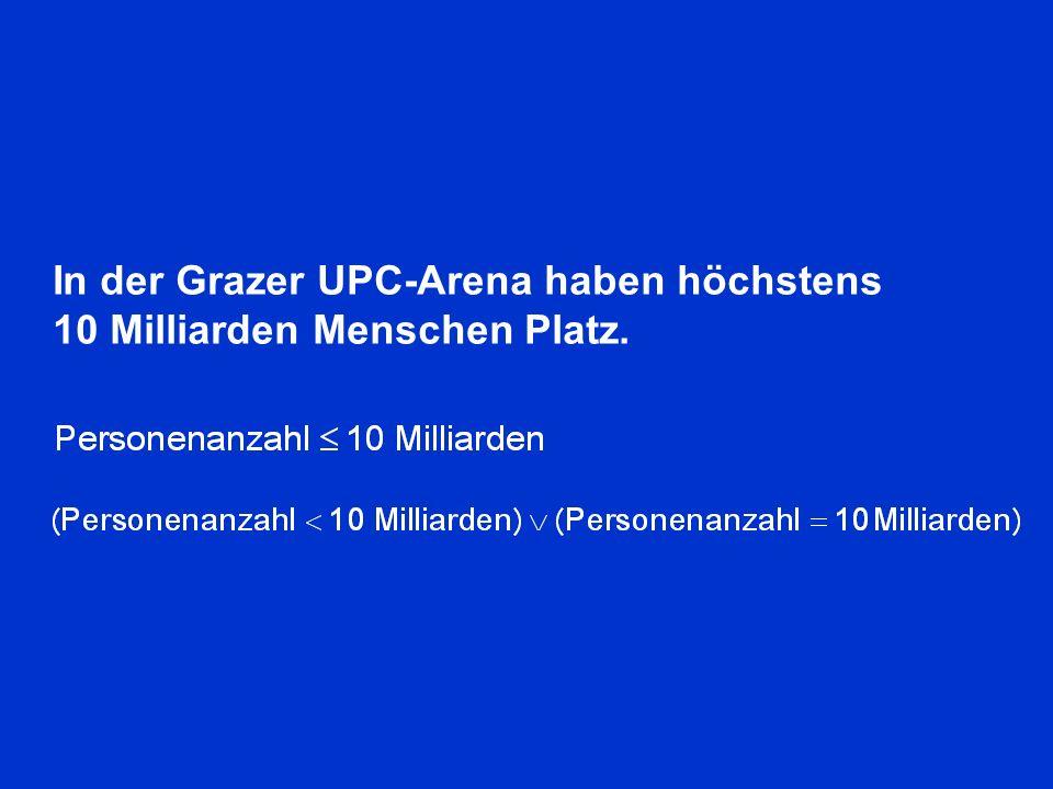 In der Grazer UPC-Arena haben höchstens