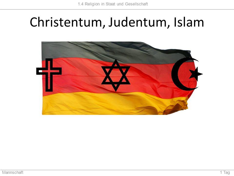 Christentum, Judentum, Islam