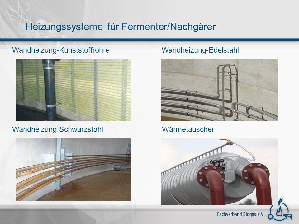 Heizungssysteme für Fermenter/Nachgärer