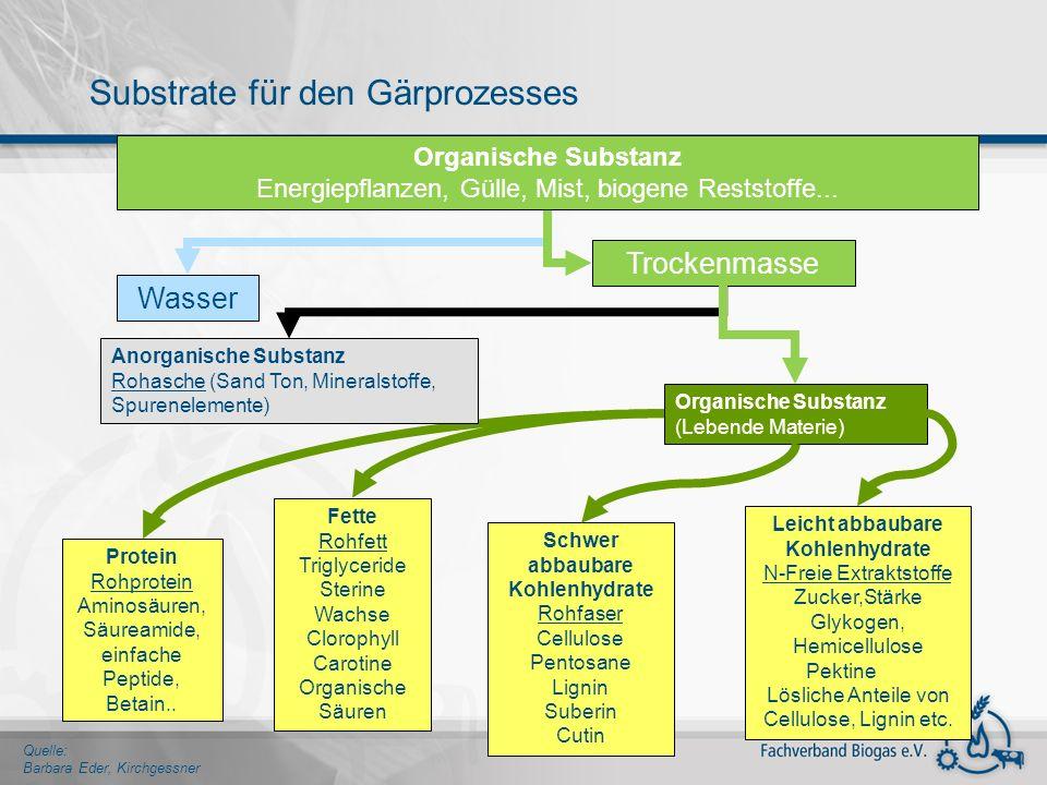 Substrate für den Gärprozesses