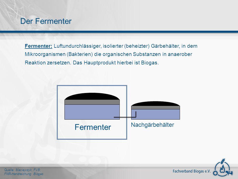 Der Fermenter Fermenter Nachgärbehälter