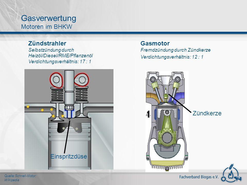Gasverwertung Motoren im BHKW