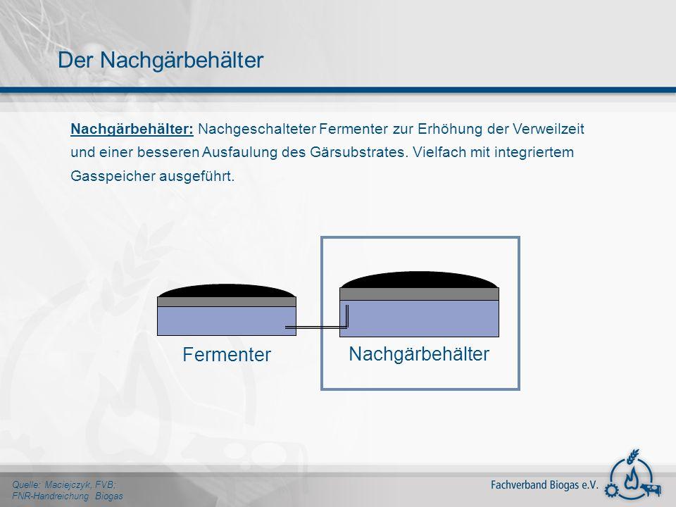 Der Nachgärbehälter Fermenter Nachgärbehälter