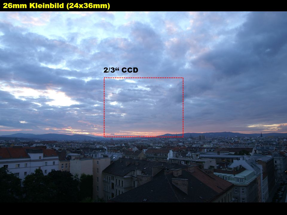 26mm Kleinbild (24x36mm) 2/3'' CCD