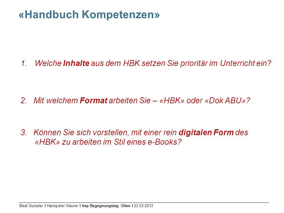 «Handbuch Kompetenzen»