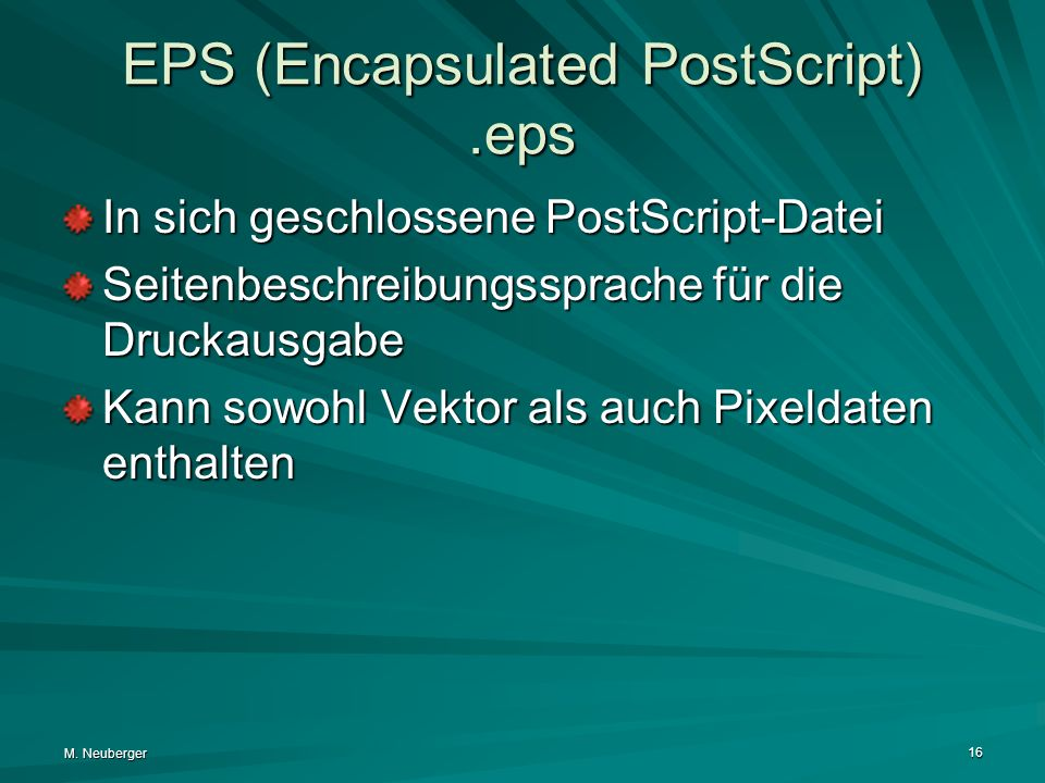 EPS (Encapsulated PostScript) .eps