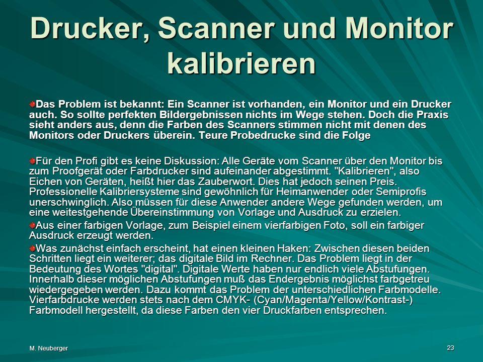 Drucker, Scanner und Monitor kalibrieren