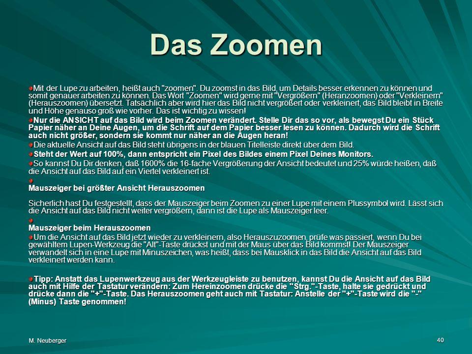 Das Zoomen