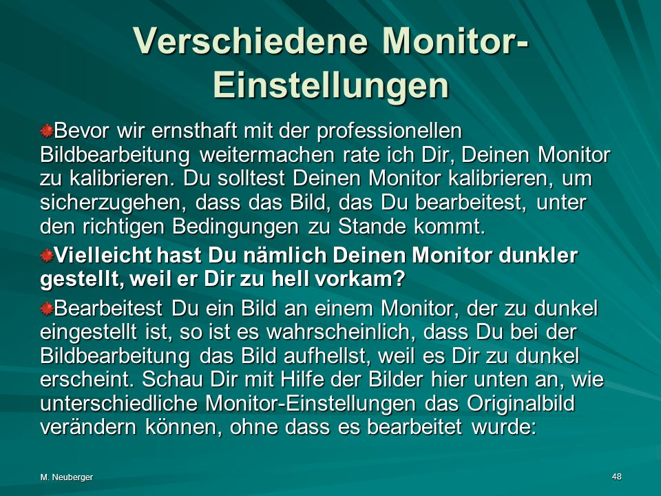 Verschiedene Monitor-Einstellungen
