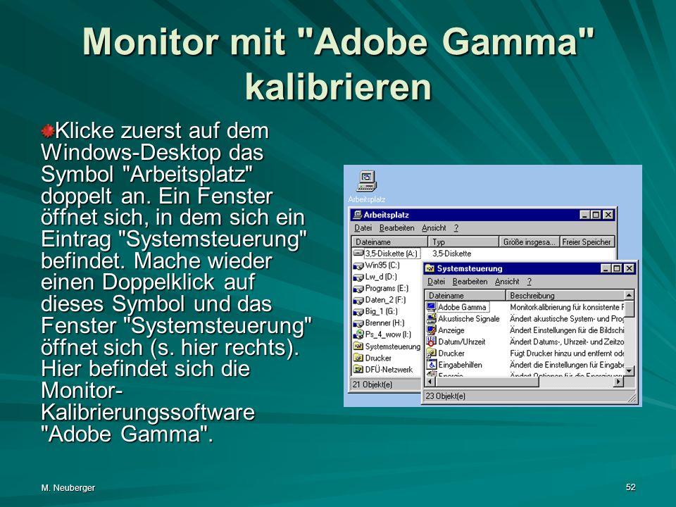 Monitor mit Adobe Gamma kalibrieren