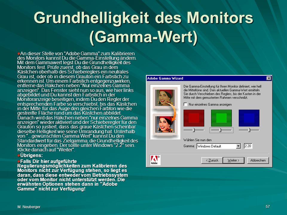 Grundhelligkeit des Monitors (Gamma-Wert)
