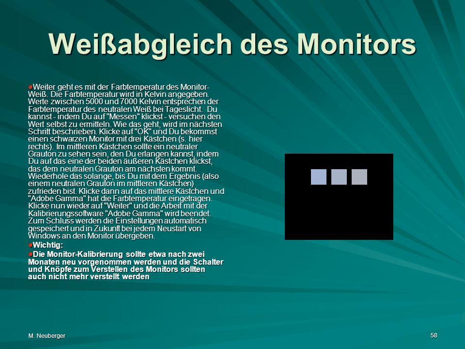Weißabgleich des Monitors
