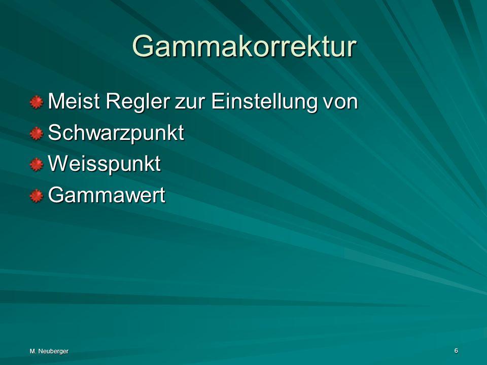 Gammakorrektur Meist Regler zur Einstellung von Schwarzpunkt