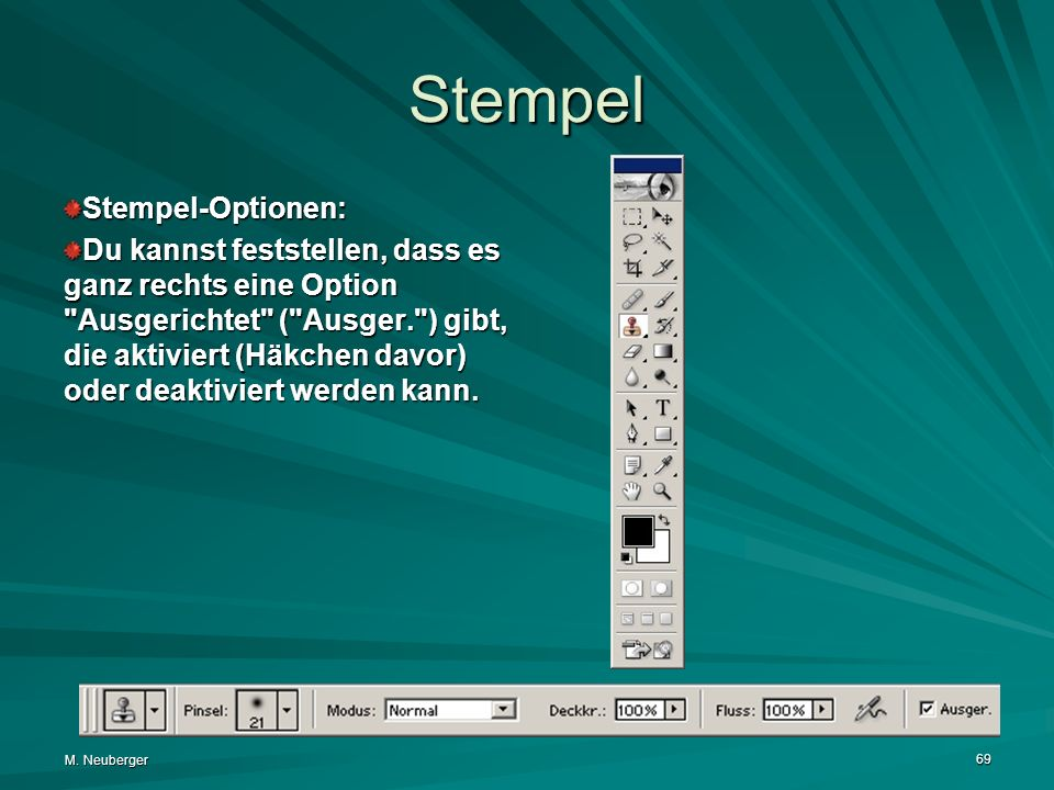 Stempel Stempel-Optionen: