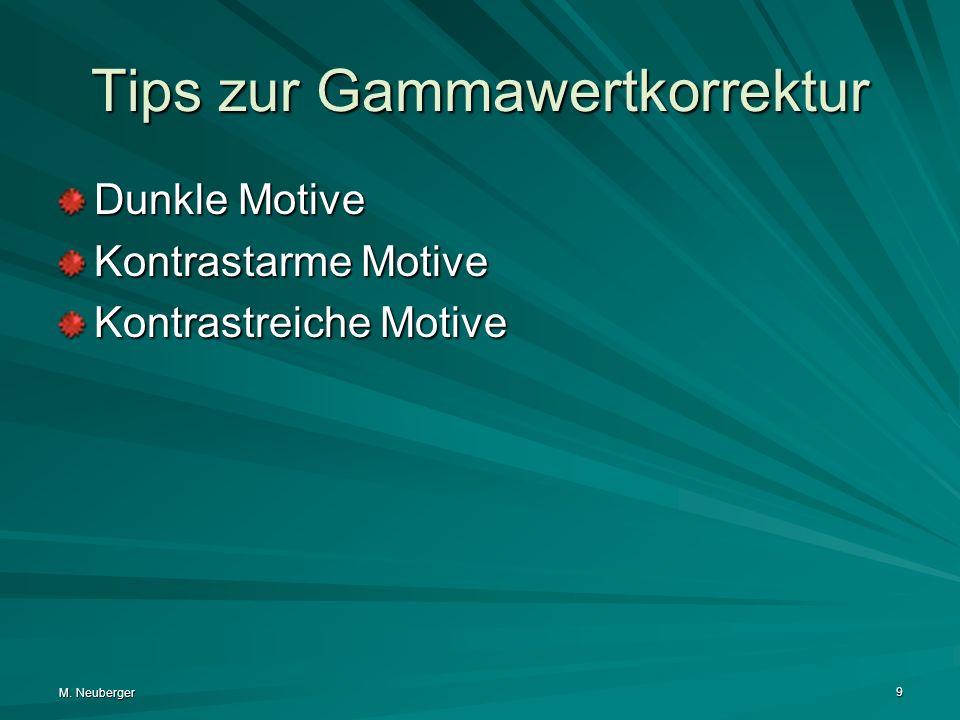 Tips zur Gammawertkorrektur
