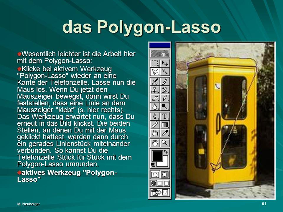 das Polygon-Lasso Wesentlich leichter ist die Arbeit hier mit dem Polygon-Lasso: