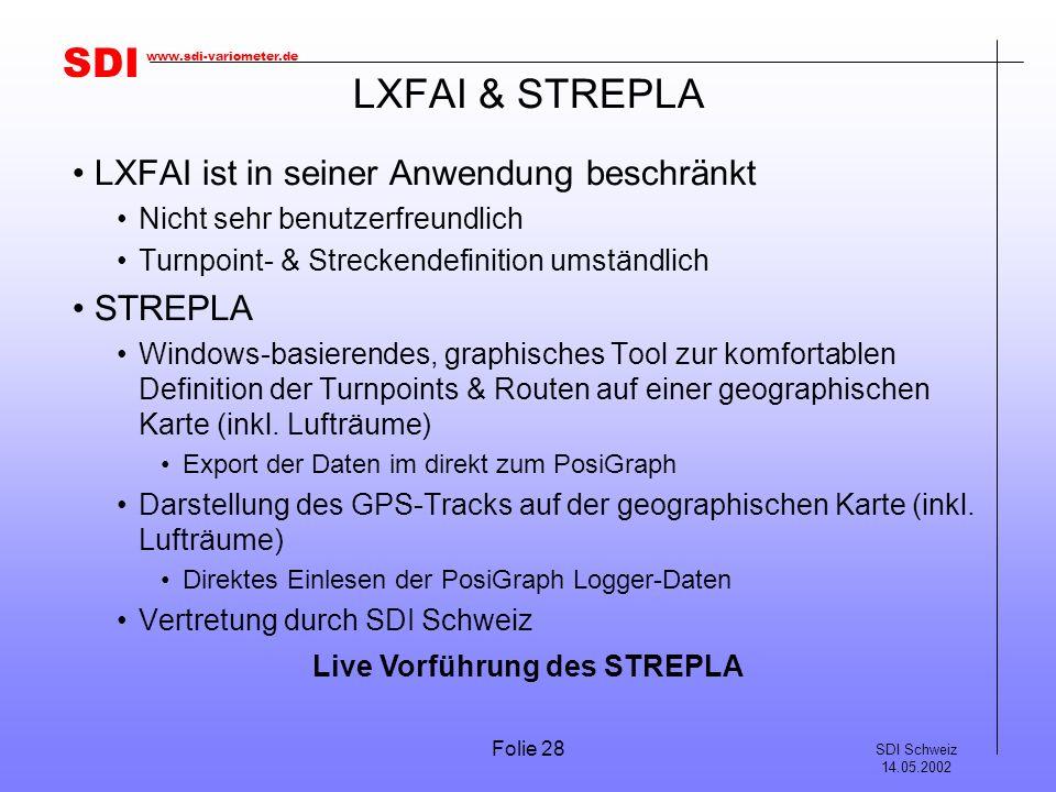 LXFAI & STREPLA LXFAI ist in seiner Anwendung beschränkt STREPLA