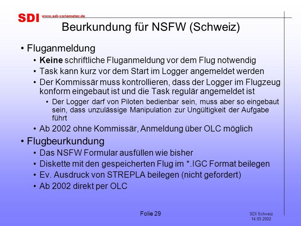 Beurkundung für NSFW (Schweiz)
