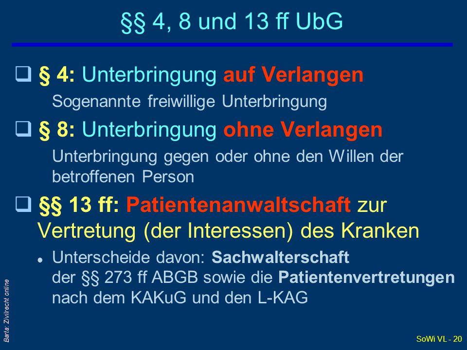 Barta: Zivilrecht online