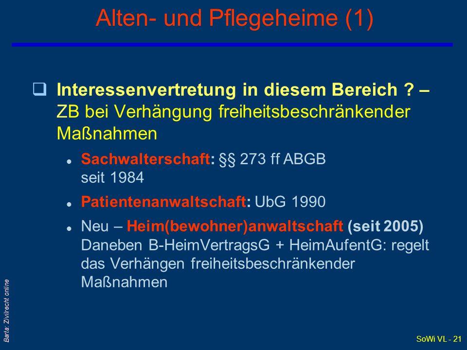 Alten- und Pflegeheime (1)