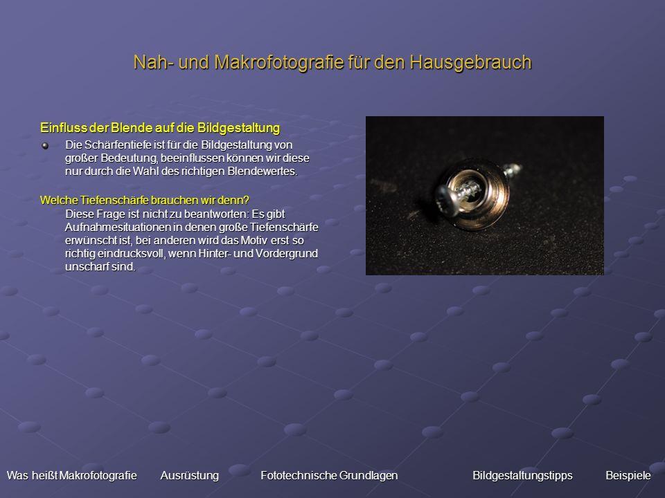 Nah- und Makrofotografie für den Hausgebrauch
