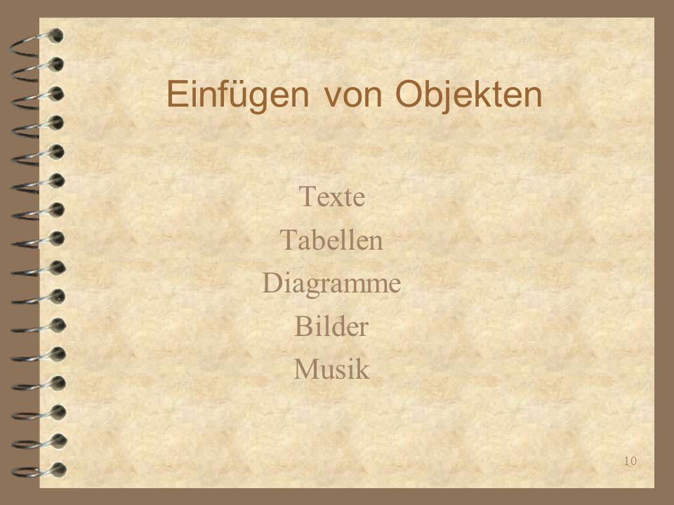 Texte Tabellen Diagramme Bilder Musik