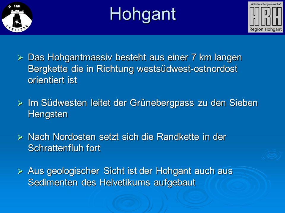 Hohgant Das Hohgantmassiv besteht aus einer 7 km langen Bergkette die in Richtung westsüdwest-ostnordost orientiert ist.