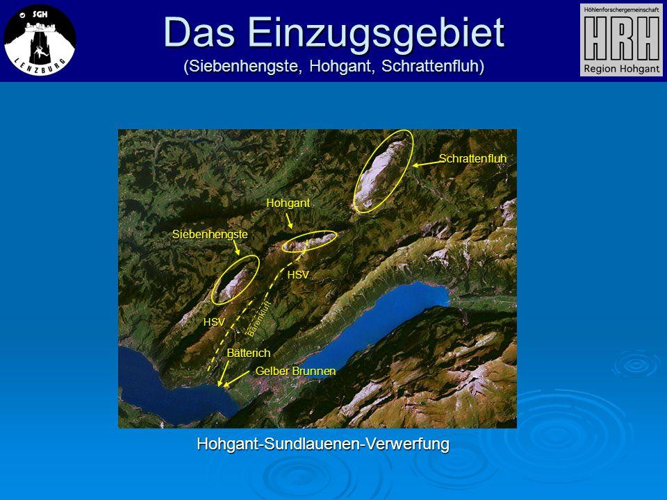 Das Einzugsgebiet (Siebenhengste, Hohgant, Schrattenfluh)